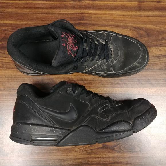 Nike Mens Flight 13 Low Shoes Sneakers 599467 002 Sz 12 Black Basketball Casual